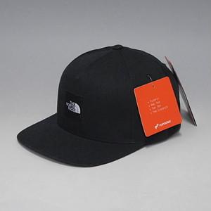 THE NORTH FACE SAMPLE BOX LOGO STREET BALL CAP ノースフェイス サンプルモデル ボックスロゴ スナップバック 6パネルキャップ ブラック