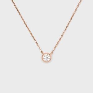 ENUOVE frutta Diamond Necklace K18PG(イノーヴェ フルッタ 0.25ct K18ピンクゴールド フクリン留めダイヤモンドネックレス アジャスターワカンチェーン)