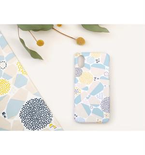 iPhone X/XS ケース 「石垣」 水色