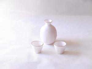 清水焼 土渕陶葊 作 冷酒器セット 釉玻璃 渕金彩