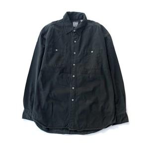 "USED 80's ""OLD GAP"" L/S shirts - black"