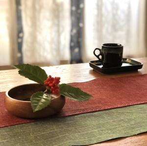 遠州綿紬・テーブルランナー[30×90cm]