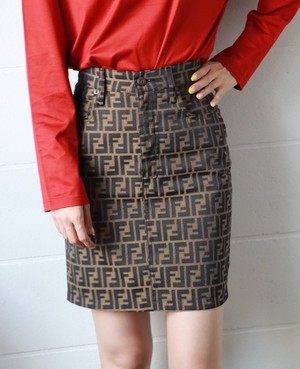 FENDI zucca tight skirt