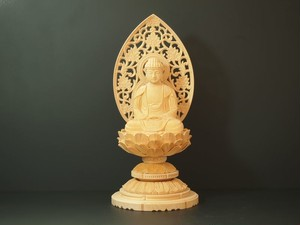 木彫り 本尊 ◆ 座釈迦 (丸台座) 2.5寸