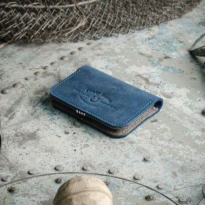 117 Leather Business & Credit Card Holder / wallet Ocean Blue