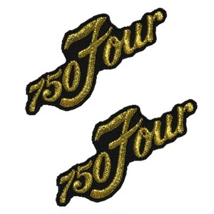 刺繍ステッカー750Four ゴールド