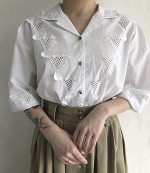 90's vintage mesh lace shirt.