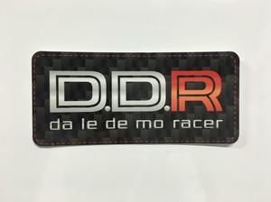 カーボン柄D.D.Rステッカー小