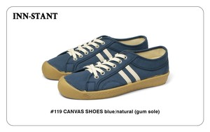 #119 CANVAS SHOES blue/blue (gum sole) INN-STANT インスタント 【消費税込・送料無料】