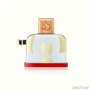 InfoThink USBメモリ ディズニー 90th アニバーサリーミッキー トースター型  USB-100(Gold)16GB