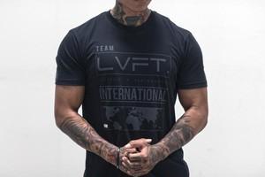 LIVE FIT.リブフィット International Tee  (Tシャツ)【Black/Black】メーカー直輸入品!