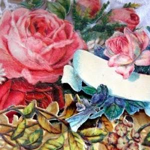 小さめのお花のアンティーククロモスセット#4