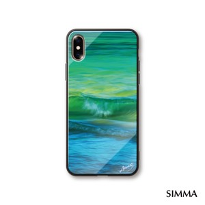 【Emerald_Green_Waves】by 小野澤篤人/AMAZONICA iPhoneケース
