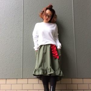 Poppy skirt _カーキ