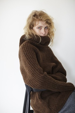 Loose turtle knit