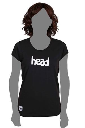 LOGO T-SHIRT WOMEN Black(head) -レディス-