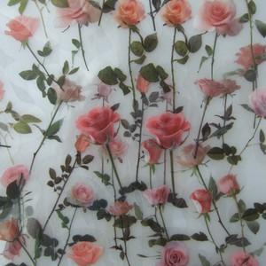 D08 PET素材 シール 全8種 チューリップ 蝶 ボタニカル 薔薇 透明ステッカー コラージュ ジャンクジャーナル
