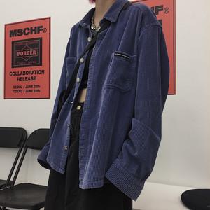 ヴィンテージブルー長袖シャツ