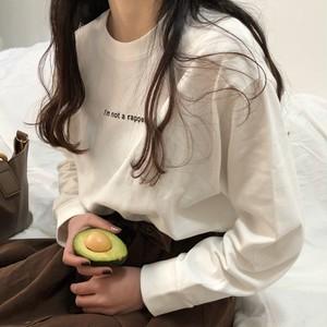 【トップス】カジュアルプリントラウンドネックプルオーバーアルファベットTシャツ