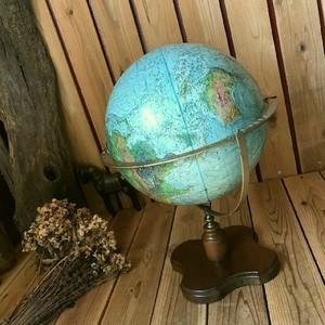 ≫70'sアメリカUSA製ヴィンテージ*REPLOGLEリプルーグル*リーダーズダイジェスト*古い地球儀*古地図グローブ飾りビンテージ*アンティーク