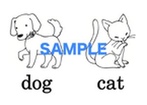 【超お得!】Animals (1)  絵+英単語 フラッシュカードデータ(白黒)