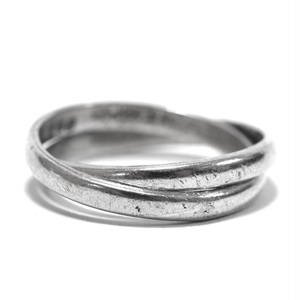 Vintage Sterling Silver Mexican Double Link Ring