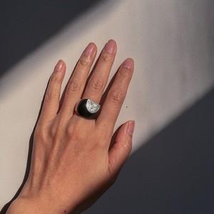 トァレグの職人が作るシルバーリング Tureg silver&ebony Ring