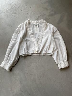 euro vintage cropped blouse