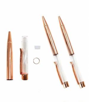 AseiwaA ハーバリウム ボールペン 手作りキット 本体のみ ペン 同色 3本セット (ピンクゴールド) B07KLJL87W