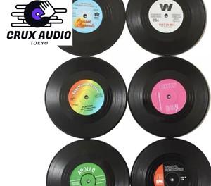 レコード型コースター(6枚入り)