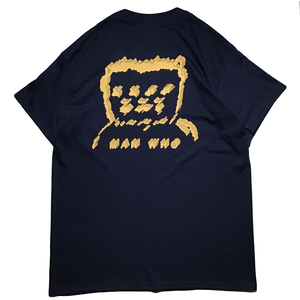 "MANWHO / ""倍の場合"" TEE (Navy/Mandarin Orange)"