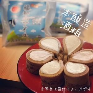 【単品】おせんべいアイス(福知山アイス) 本醸造酒粕flavor