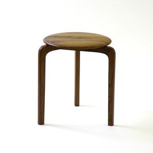 LISCIO スタックスツール(wood) (座面:ウォールナット, 脚:ウォールナット)