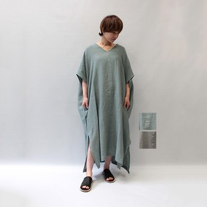 OUTERSUNSET(アウターサンセット) poncho linen onepiece 2021春夏新作 [送料無料]