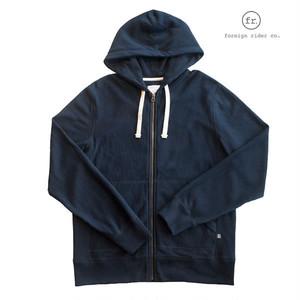 foreign rider(フォーリンライダー)full zip hooded jacket/フルジップスウェットパーカー/カラー:NAVY【frnvyfzh-navy】