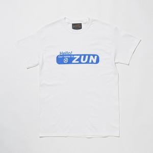 """ZUN """"ずん"""" TEE WHITE x BLUE"""