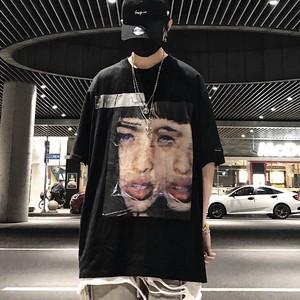 【トップス】顔図柄半袖プリントストリート系Tシャツ28653692