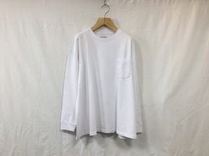 "UNIVERSAL PRODUCTS.""HEAVY WEIGHT L/S TEE WHITE"""