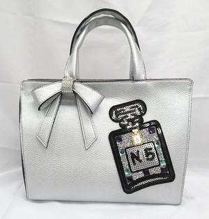 香水瓶デコのリボンバッグ