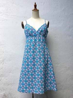 イギリス 雪の結晶デザイン ワンピース ドレス USED