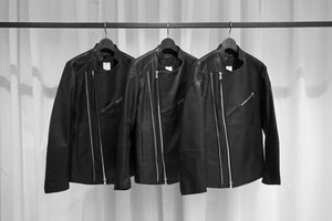 ASKYY / 2WIN ZIP LEATHER JACKET / BLK