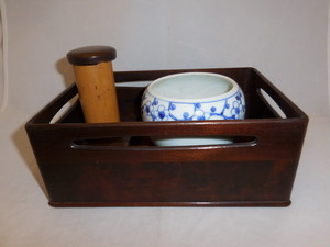 漆煙草盆セット lacquer ware three sake cup(No2)
