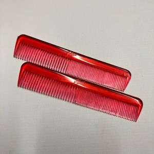 50-60's Vintage Placo King Comb DEAD STOCK(RED)