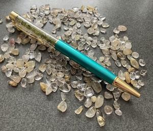天然石ペリドットさざれ入りボールペン