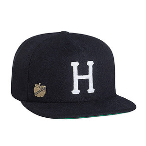 HUF HOME FIELD WOOL STRAPBACK NAVY