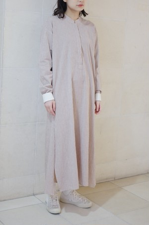 "A. Dupré  ""Long Sleeve Shirt Dress""[brown]"