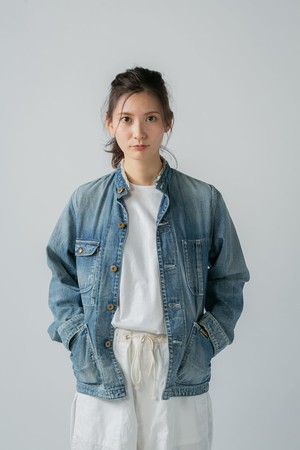【No. BSL602 Color. 06 Indigo Light】 Womens Selvage Work Jacket