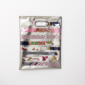 【一点もの】No.321   スカーフで作ったPVCクラッチバッグ