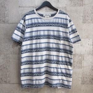 REMI RELIEF 18SS インディゴボーダージャガードTシャツ