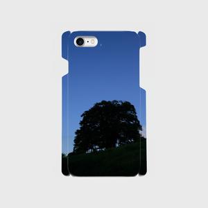 iPhone8スマホケース 葉桜と月